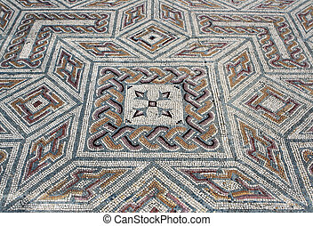 Mosaic in roman mansion. Picture taken in Portugal