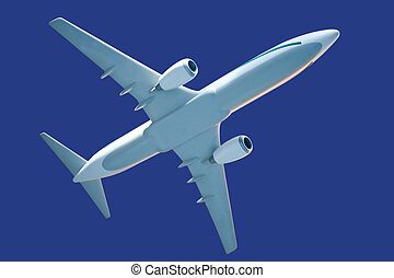 generic airplane model, with clipping path