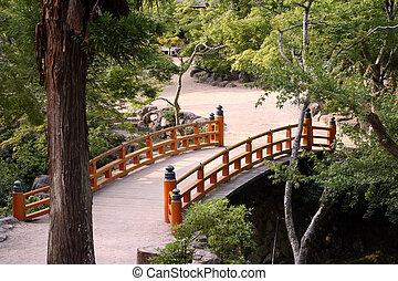 Japanese garden - Bridge in the japanese-style garden....