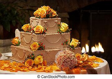 imaginación, boda, pastel