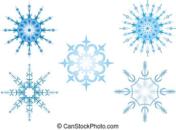 Snowflakes, Illustration, vector image on white