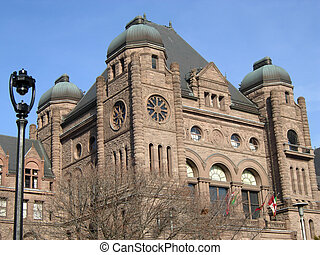 Queens Park - The very ornate legislature building, Toronto,...
