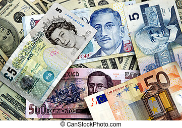 World Currency - Currency notes from all over the world