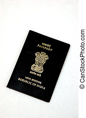 Indian Passport isolated against a white background