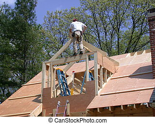 Building a Dormer - Constructing a gable dormer to a house