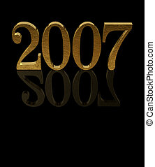 Gold 3D 2007 with reflections - 3D 2007 with reflections -...
