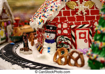 Gingerbread house - this image shows a gingerbread house