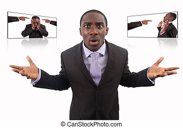Super Blame!!! - This is an image of a businessman fighting...