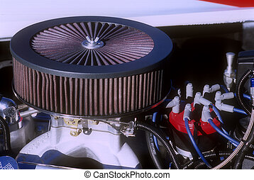 Air Cleaner over Distributor Cap - Circular air cleaner and...