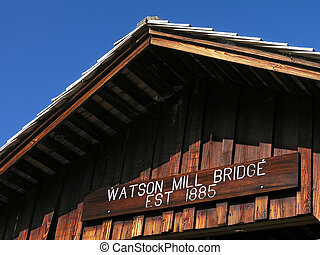 Covered Bridge Roof - Watson Mill Covered Bridge Roof detail
