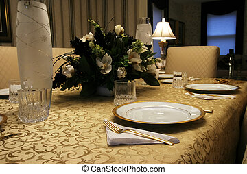 Elegant Table Setting - An elegant holiday dining table...