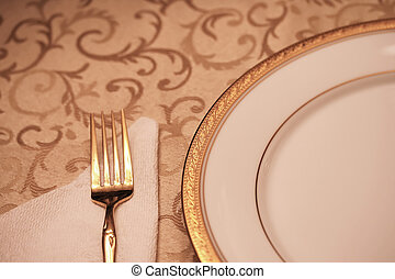 Elegant Table Setting - An elegant dining table setting with...