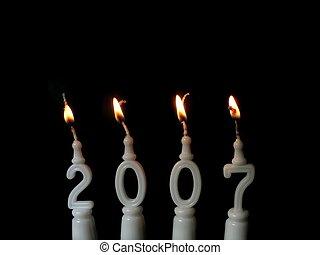 New Year 2007 - 1 - New Year celebration: burning candles...