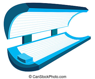 Tanning Bed - Tanning bed - includes clipping path