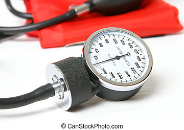 Blood pressure instrument - Sphygmomanometer - an inflatable...