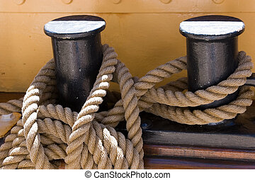 Capstans - Fixed capstans on a ship