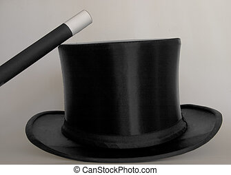 Tools of magic - Magicians toolsaccessories - top hat and...