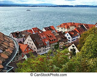 View from the roof - Meersburg - Town on lake