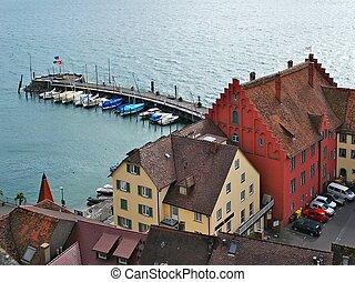 Meersburg Wharf - The quay on Lake Bodensee, Meersburg,...
