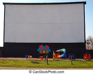 Drive-In Screen - drive-in theater screen located in...