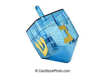 Dreidel - Photo of A Blue Chaunkah Dreidel - Isolated