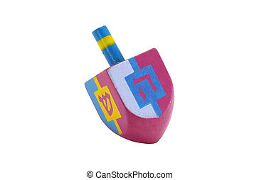 Dreidel - Photo of A Pink and Blue Chaunkah Dreidel -...