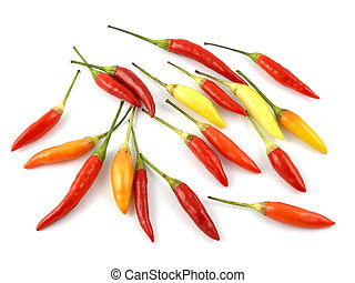 Cayenne peppers - Red, orange & yellow cayenne peppers