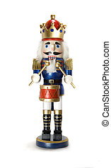 nutcracker - drummer nutcracker on white background