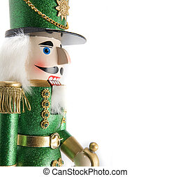 nutcracker - solder nutcracker on white background, space...