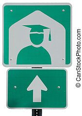 College Ahead road sign
