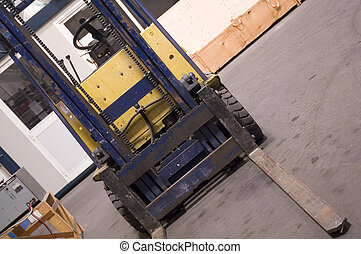 forklift - yellow forklift