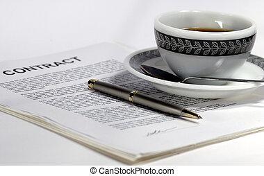 contrato, café