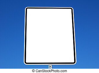 Blank white sign for text
