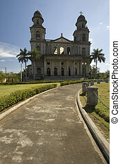 cathedral of santo domingo managua nicaragua central america