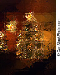 Outside Looking In - A warm interior scene with a Christmas...