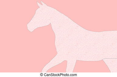 Pink Horse - a pink horse