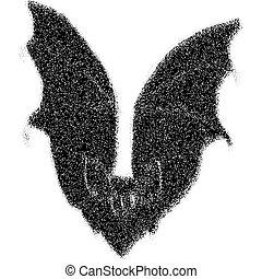 Black Bat - large black bat design