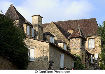 Sarlat, France - House in Sarlat, Dordogne, Aquitaine,...
