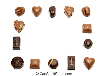 Chocolates - Different kind of chocolates forming a border...
