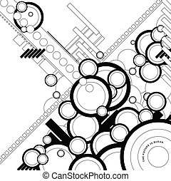 ebb flow outlined - a circular background design with a...