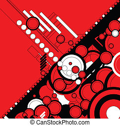 ebb flow red - A circular design with a modern twist for use...