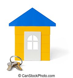 House and Keys - Isolated house and keys