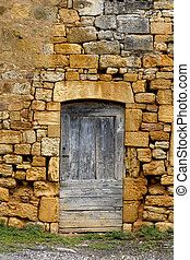 Ancient door and wall