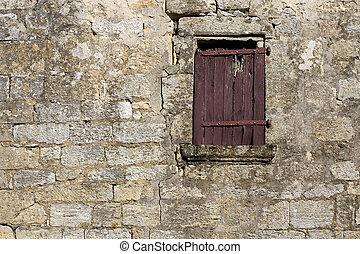 Old window - Ancient window in Dordogne, France