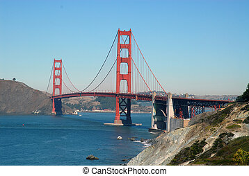Golden Gate - The Golden Gate Bridge from San Francisco,...