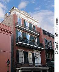 French Quarter Building - buildings with carved mouldings...