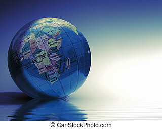 world globe - Digital world globe illustration