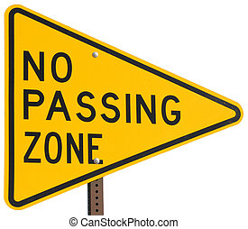 No Passing Zone road sign