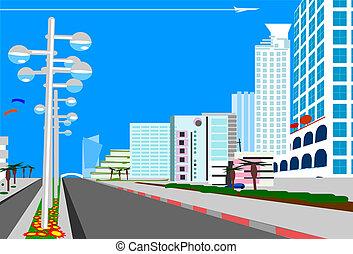 blue  city  - Skyline of    blue  city