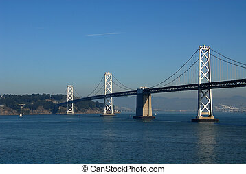 Bay Bridge Treasure Island from San Fransisco, California